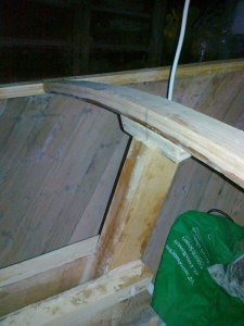 4. front of case braced with a deck beam