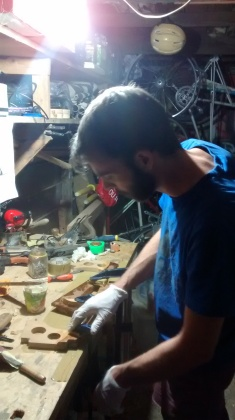 Me glueing something
